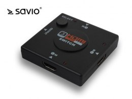Elmak SAVIO CL-26 Switch HDMI 3 porty, Full HD, blister
