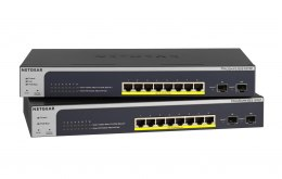 8x 10/100/1000 ports Smart Managed Switch with PoE+ 190W, with 2 dedicated Gigabit SFP